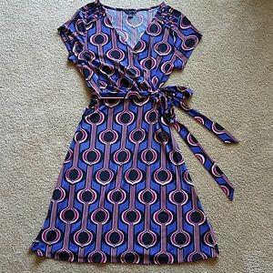 Banana Republic wrap cap sleeve dress